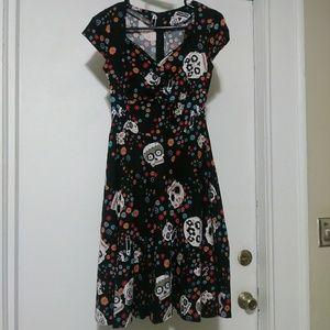 Sugar skull swing dress